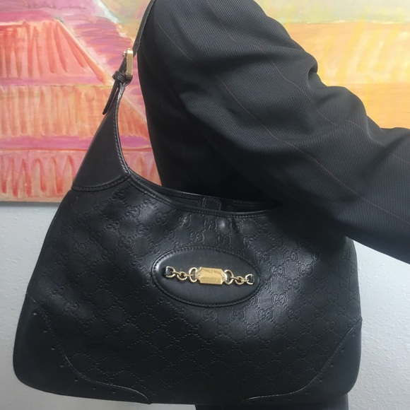 0a1d46d3ec89 Gucci Bags | Authentic Ssima Punch Large Hobo Black | Poshmark